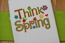 """Spring Embroidery Designs / """"No matter how long the winter, spring is sure to follow."""" Spring-themed machine embroidery and applique design sets. Available for instant download 24/7 #DesignsbyJuJu"""