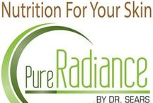 """Pure Radiance – """"Nutrition for Your Skin"""" / Your skin is the largest organ of your body. And to keep it glowing, radiant, and healthy, it needs to be nourished with the right natural nutrients."""