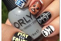 Bookish/Geekish Nails / The Geekery Book Review: Book/Geek related nail art.