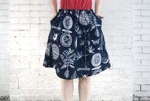 Kaavat: Hameet / Patterns for skirts.