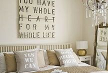 Bedrooms / Making my house a home. Things I love.