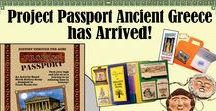 Ancient Greece (Project Passport) / Travel back to Ancient Greece through a Project Passport Hands-on History study from Home School in the Woods! Learn about this amazing era with games, a lap book, notebooking activities, creative writing, 3-D projects, and so much more! ...Luggage and passport provided!
