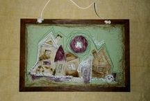 MY art / my handmade textile dolls, painted stones, led lams,