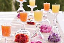 Konfirmation ♥ Bordpynt inspiration - lys / Få noget ud af din fars brugte rødvinsflasker, genbrug din bedstemors tekopper, eller udnyt din mors vinglas. Anderledes lys dekorationer til din konfirmation.