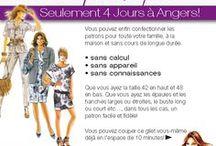 Evénements au magasin / Les actualités du magasin Tissus de la Mine à Trélazé : ateliers couture, rideaux, confection, patrons, etc.