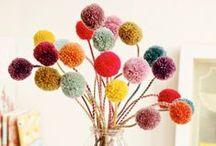 Konfirmation 2014 ♥ pom pom dekorationer / DIY papir pomponer