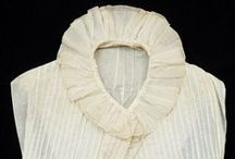 Regency Chemisettes / Regency Era 1795-1820: chemisettes, under-bodices, tuckers, collars, and other garments that fill in the neckline and are made to be seen