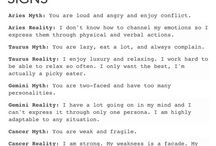 Zodiac / Things about the signs