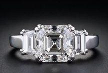 Asscher Cut Engagement Ring / Asscher cut diamond engagement rings
