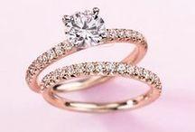 Rose Gold Engagement Rings / Rose gold diamond engagement rings
