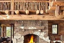 Mountain Rustic Style / A collection of images summarizing mountain rustic style.
