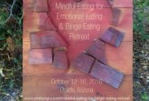 Mindful Eating for Binge Eating / Heal Your Relationship with Food and Your Body. You might be struggling with binge eating if you... -    Eat until you feel uncomfortably full -    Eat more rapidly than normal -    Eat large amounts of food when you're not hungry -    Eat alone due to embarrassment about how much you eat -    Feel disgusted, depressed, or guilty after you eat.  Am I Hungry? Mindful Eating Program for Binge Eating: http://amihungry.com/programs/mindful-eating-for-binge-eating