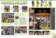 Yearbook - Sports Pages / A collection of ideas for sports related page layouts in your yearbook!