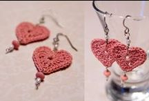 Szydełkowe kolczyki / crochet earrings, szydełkowe kolczyki