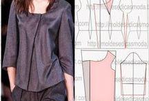 Patterns and sewing / Ohjeita ja ideoita vaatteiden kaavoitukseen, kuositteluun ja ompeluun.