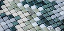 STANDARD MOSAICS / Marble, glass and wooden modular mosaics, with paper or fiber net or film support.