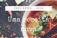 Uma receita nova por dia #desafio #2018 #crismiyke / 2018 - Ano novo, novo desafio - Uma receita nova por dia!  Blog - delicinhasecoisinhas.blogspot.com  - Cris Miyke - Insta do desafio - @uma.receita.nova.por.dia