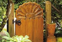 We Love Garden Gates / The humble garden gate - or is it? We found these stunning garden gates that really mades us want to walk through and discover what magic was behind them... / by Simpsons Garden Centre