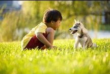 Little People & Furry Friends / Pets have been shown to influence human development, but whether the effect is due to the presence of a pet or to the person's relationship with a pet is uncertain. All we can attest to is this: Many of us at #NaturalPlaygroundsCompany grew up with #Pets and have wonderful memories of a special, childhood friend.