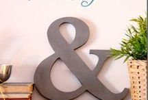 DIY: Crafts - Monograms, Initials, Letters...