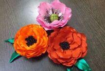 Kwiaty , owoce z różnych materiałów / kwiaty z różnych materiałów  nie włóczkowych