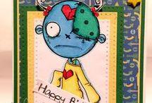My Oddball Stamp creations / My DT cards for Oddball challenge blog