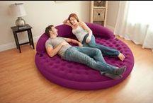 Mobilier gonflable / Retrouvez ici les différents modèles de mobiliers gonflables : poufs, canapés, fauteuils... ! Retrouvez ces modèles sur www.raviday-matelas.com