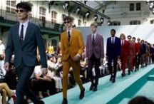 """Paul Smith / Sir Paul Smith, CBE, RDI, is a British designer, whose business and reputation is founded upon his men's fashion with a special focus on tailoring. He has described his designs as """"well-made, good quality, simple cut, interesting fabric, easy to wear"""" and often adds a splash of vibrant colour, a floral print or his signature multi-coloured stripes."""