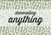 decorating anything / Inspiration to decorate your house with oilcloth or adhesive foil