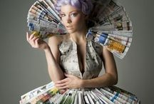 Costume and accessories: recycled and just a bit nuts!