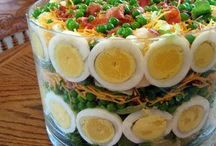 Salads superb. / Salads