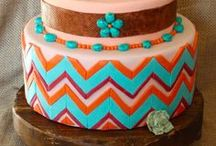 Chevron Cakes / Chevron Decorated Cakes