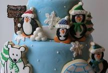 Winter Wonderland / Winter and Snow Themed Cakes