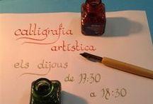 """Cal·ligrafia artística / Taller de Cal·ligrafia artística a @BiblioEugeni. Durant el curs escolar, una tarda a la setmana.  Aquest curs 2016/17 """"Taller de cal·ligrafia gòtica: l'escriptura a l'època de Ramon Llull"""" els dilluns no festius de 19:00 a 20:00"""