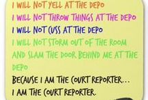 Adventures in Court Reporting and Captioning / It's a tough job in the reporting world.