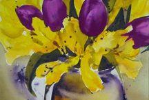 Yellow and purple