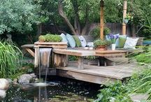 Water Garden Ideas / I just love water gardens. This is a collection of ideas to inspire and create one in every style imaginable. #watergardenideas