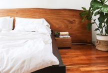 bedroom ideas / Featuring bohemian, modern bohemian, rustic and modern rustic.. Pretty much anything wood! Love wood!