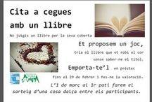 Cita a cegues amb un llibre / lectura, libros. ,llibres