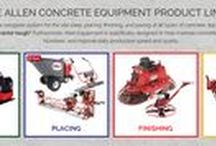 Allen Engineering Concrete Equipment / We recently added Allen Engineering products to our inventory. Allen concrete tools are contractor tough, and specifically designed to improve site-prep, placing, finishing and paving all types of concrete! Available at #intermountainconcretespecialties #utah ics50.com