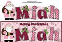 My Christmas Names / My Christmas designs with Names on Craftsuprint. Most of them have a matching insert and can be purchased as download, printed product or even sometimes finished card from Craftsuprint. Please click on them for details.