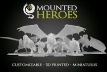 Mounted Heroes / Customizable 3D Printed Miniatures