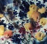 Watercolor / Watercolor art. Watercolor painting. Still life, landscape...
