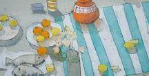 Still life / Still life, fruit art, flowers art, painting.  Oil painting, watercolor painting.