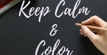 Keep Calm and Color Adult Coloring Program / Coloring Tips, Printables, Book Reviews, Articles, and other coloring related pins.