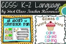 K-2 CCSS: Language / Ideas and products for your K-2 classroom