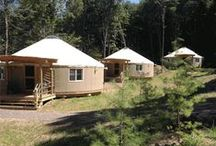 "Yurt Life / Our yurt village opened May 2014 and brought ""glamping"" to western Maryland! Here's just a taste of what it looks like when safari meets the mountains."