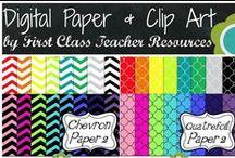 Digital Papers & Clip Art / Digital Papers & Clip Art for Teacher Authors