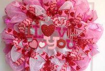 Valentine's Deco Mesh wreaths