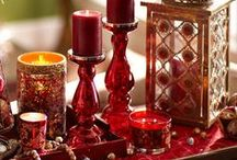 Valentines Day Candle Displays